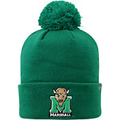 Top of the World Men's Marshall Thundering Herd Green Pom Knit Beanie