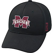 Top of the World Men's Mississippi State Bulldogs Black Booster Plus 1Fit Flex Hat