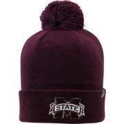 Top of the World Men's Mississippi State Bulldogs Maroon Pom Knit Beanie