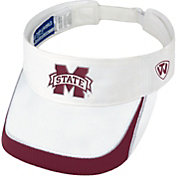 Top of the World Men's Mississippi State Bulldogs White Teed Off Visor