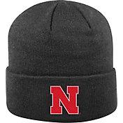 Top of the World Men's Nebraska Cornhuskers Black Cuff Knit Beanie