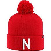 Top of the World Men's Nebraska Cornhuskers Scarlet Pom Knit Beanie
