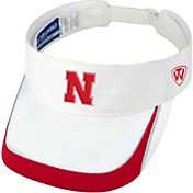 Top of the World Men's Nebraska Cornhuskers White Teed Off Visor