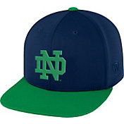 Top of the World Men's Notre Dame Fighting Irish Navy/Green Eager Snapback Hat