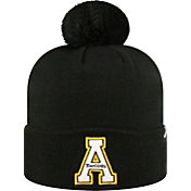 Top of the World Men's Appalachian State Mountaineers Black Pom Knit Beanie