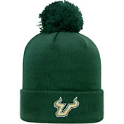 Top of the World Men's South Florida Bulls Green Pom Knit Beanie