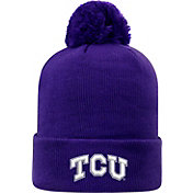Top of the World Men's TCU Horned Frogs Purple Pom Knit Beanie
