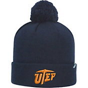 Top of the World Men's UTEP Miners Navy Pom Knit Beanie