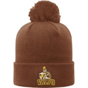 Top of the World Men's Valparaiso Crusaders Brown Pom Knit Beanie