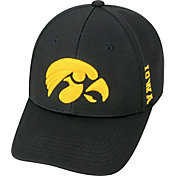 Top of the World Men's Iowa Hawkeyes Black Booster Plus 1Fit Flex Hat