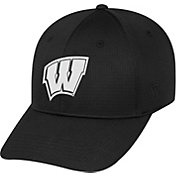 Top of the World Men's Wisconsin Badgers Parallax Black 1Fit Flex Hat