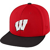 Top of the World Men's Wisconsin Badgers Red/Black Eager Snapback Hat