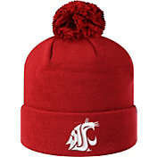 Top of the World Men's Washington State Cougars Crimson Pom Knit Beanie