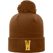 Top of the World Men's Wyoming Cowboys Brown Pom Knit Beanie
