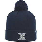 Top of the World Men's Xavier Musketeers Blue Pom Knit Beanie