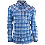 Deep Men's Plaid Performance Long Sleeve Shirt
