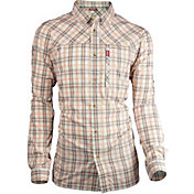 Deep Men's Plaid Performance Long Sleeve Shirt