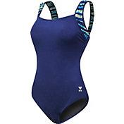 TYR Women's Bellvue Stripe Control Fit Swimsuit