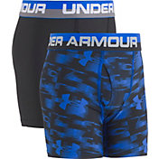 Under Armour Boys' Blur Printed HeatGear Boxer Briefs 2 Pack