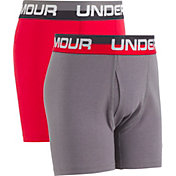 Under Armour Boy's Solid Boxer Briefs 2 Pack