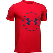 Under Armour Boys' Freedom Logo Short Sleeve T-Shirt
