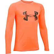 Under Armour Boys' Big Logo Long Sleeve T-Shirt