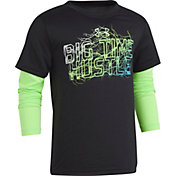 Under Armour Little Boys' Big Time Hustle Graphic Slider Long Sleeve Shirt