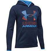 Under Armour Boys' Armour Fleece Solid Big Logo Hoodie