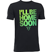 Under Armour Boys' I'll Be Home Soon Graphic Baseball T-Shirt