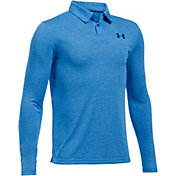 Under Armour Boys' Long Sleeve Siro Tech Golf Polo