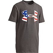 Under Armour Boys' Americana Flag Big Logo Graphic T-Shirt