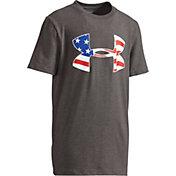 Under Armour Boys' Americana Flag Big Logo Graphic T-Shirt