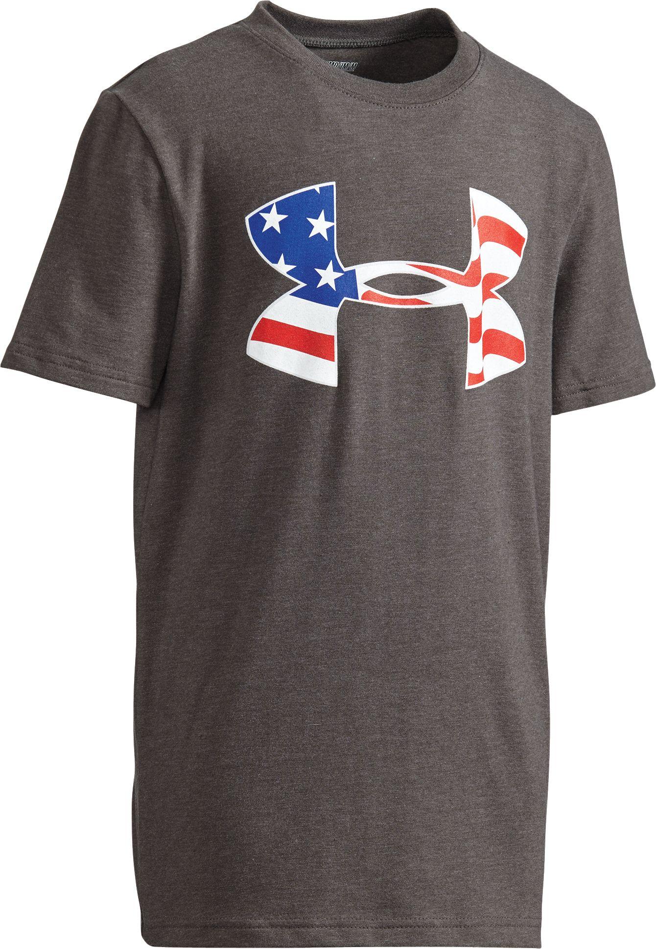 under armour shirts for boys. under armour boys\u0027 americana flag big logo graphic t-shirt shirts for boys