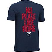Under Armour Boys' No Plate Like Home Graphic Baseball T-Shirt