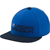 Under Armour Boys' Grid Flat Brim Hat