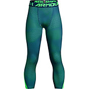 Under Armour Boys' HeatGear Armour 3/4 Length Novelty Leggings