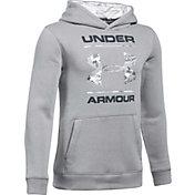 Under Armour Boys' Rival Camo Fill Logo Hoodie