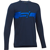 Under Armour Boys' SC30 Logo Basketball Long Sleeve Shirt