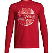 Under Armour Boys' SC30 Holiday Lights Graphic Basketball Long Sleeve Shirt