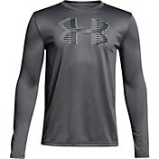 Under Armour Boys' Tech Big Logo Long Sleeve Shirt