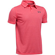 Under Armour Boys' Threadborne Feeder Golf Polo