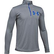 Under Armour Boys' Tech Textured ¼ Zip Long Sleeve Shirt