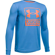 Under Armour Boys' Textured Tech Crew T-Shirt