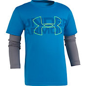 Under Armour Little Boys' Wordmark Slider Long Sleeve Shirt