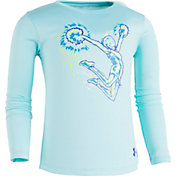 Under Armour Little Girls' Cheer Stunt Graphic Long Sleeve Shirt