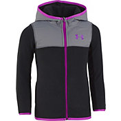 Under Armour Girls' Cozy Full Zip Hooded Fleece Jacket