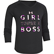 Under Armour Little Girls' Girl Boss Graphic Long Sleeve Shirt