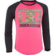 Under Armour Girls' Reaper Fill Big Logo Long Sleeve Shirt
