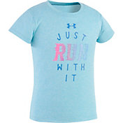 Under Armour Little Girls' Just Run With It T-Shirt