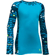 Under Armour Girls' Novelty ColdGear Crew Long Sleeve Shirt